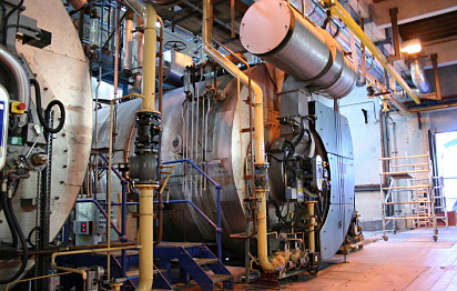 Cooling machines inside factory