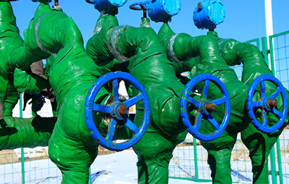 Green wrapped pumping valves